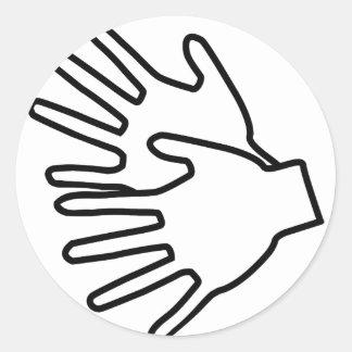 Gebärdenspracheikone Runder Sticker