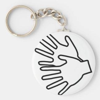 Gebärdenspracheikone Standard Runder Schlüsselanhänger
