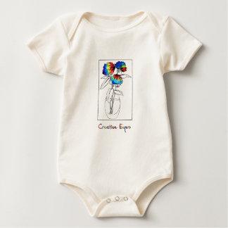 Gebatikte Pfingstrosen Baby Strampler
