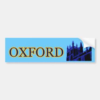Gebäude 1986 Oxfords England windt sich Blau Auto Aufkleber