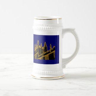 Gebäude 1986 Oxfords England windt sich Brown Bierglas