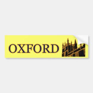 Gebäude 1986 Oxfords England windt sich Gold Autoaufkleber
