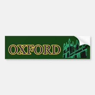 Gebäude 1986 Oxfords England windt sich Grün Autosticker