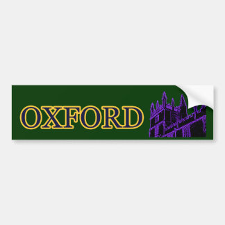 Gebäude 1986 Oxfords England windt sich lila Auto Aufkleber