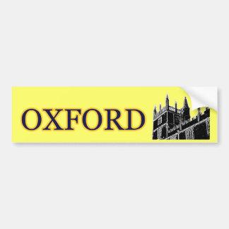 Gebäude 1986 Oxfords England windt sich Schwarzes Auto Sticker