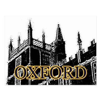 Gebäude 1986 Oxfords England windt sich Schwarzes Postkarte