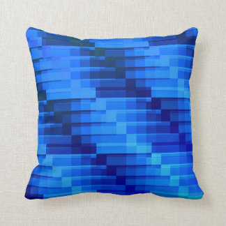 Gebäude am Nachtmodernen abstrakten Blau Kissen