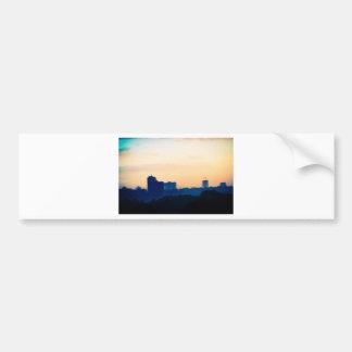 Gebäude am Sonnenuntergang Auto Sticker
