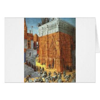 Gebäude des Tempels von Jerusalem durch Jean Karte