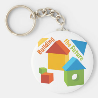 Gebäude die Zukunft Schlüsselanhänger