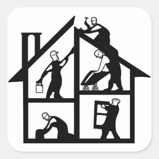 Gebäude-Logo Quadratischer Aufkleber