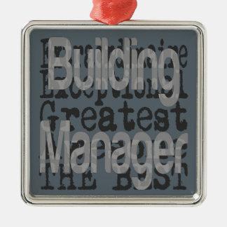 Gebäude-Manager Extraordinaire Silbernes Ornament