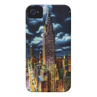 Gebäude New York City Chrysler nachts iPhone 4 Hülle
