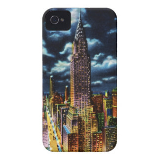 Gebäude New York City Chrysler nachts iPhone 4 Case-Mate Hülle