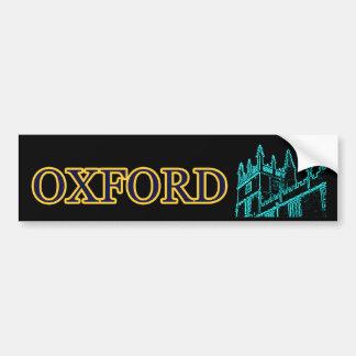 Gebäude Oxfords England windt sich cyan-blaues Autoaufkleber