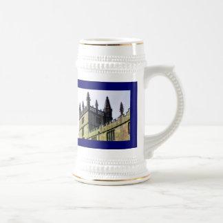 Gebäude-Spiralen 1986 Oxfords England 1 Bierglas