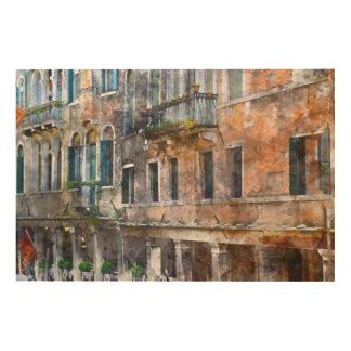 Gebäude Venedigs Italien Holzleinwand