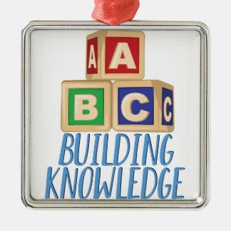 Gebäude-Wissen Quadratisches Silberfarbenes Ornament
