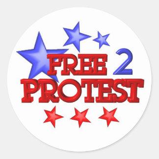 Geben Sie 2 frei, die Protest auf 30 Einzelteilen Runder Aufkleber