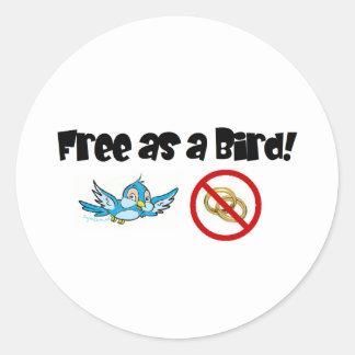 Geben Sie als Vogel frei! Runde Sticker