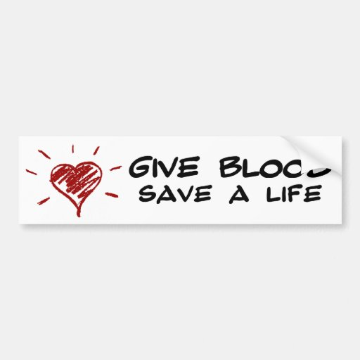 Geben Sie Blut retten ein Leben Autosticker