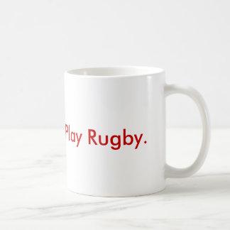 Geben Sie Blut.  Spielen Sie Rugby Kaffeetasse