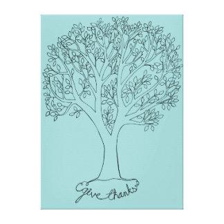 Geben Sie Dank-Baum Galerie Falt Leinwand