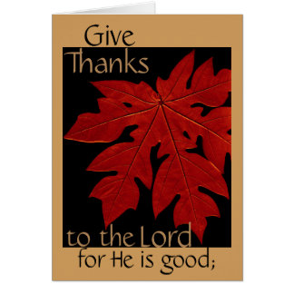 Geben Sie Dank des Lords Thanksgiving Prayer Card Karte
