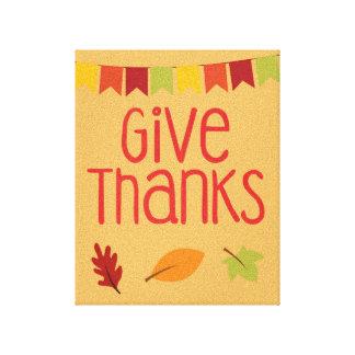 Geben Sie Dank-Erntedank-Leinwand-Druck Gespannter Galeriedruck