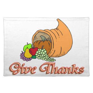 Geben Sie Dank-Fülle Tischset