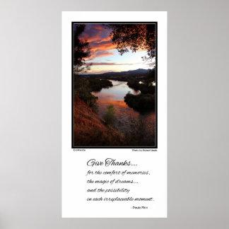 Geben Sie Dank für den Komfort von Erinnerungen… Poster