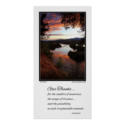 Geben Sie Dank für den Komfort von Erinnerungen… Plakat