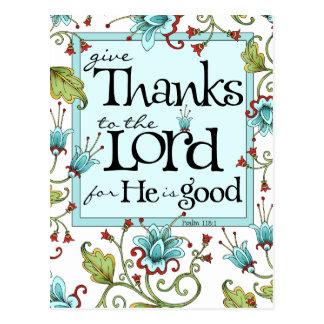Geben Sie Dank - Postkarte