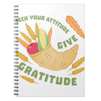 Geben Sie Dankbarkeit Notizblock