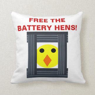 Geben Sie das Batterie-Henne-Kissen frei Kissen