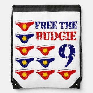 Geben Sie das budgie 9 frei Turnbeutel