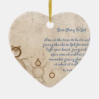 Geben Sie dem Gott Ruhm Keramik Ornament