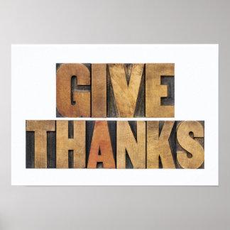 Geben Sie den Dank - Erntedank-Konzept - Poster