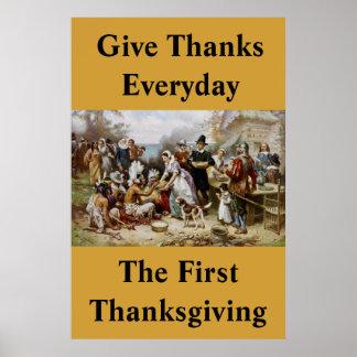 Geben Sie den täglichen Dank, Plakat