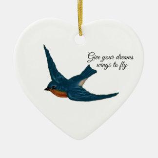 """""""Geben Sie der Fliege"""" mit Drossel Ihre Keramik Ornament"""