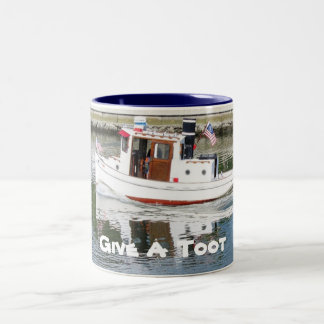 Geben Sie eine Toot-Schlepper-Boots-Kaffee-Tasse Zweifarbige Tasse