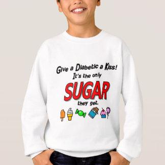 Geben Sie einem Diabetiker einen Kuss Sweatshirt