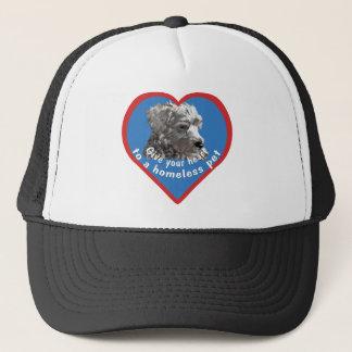 Geben Sie einem obdachlosen Haustier Ihr Herz Truckerkappe