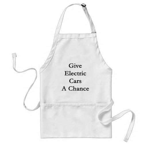 Geben Sie elektrischen Autos eine Möglichkeit Schürzen