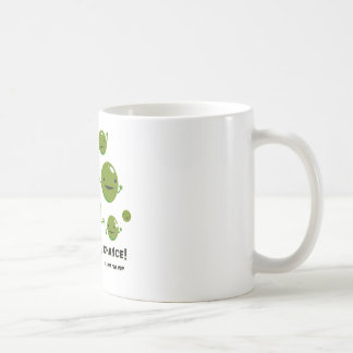 Geben Sie Erbsen eine Möglichkeit Kaffeetasse