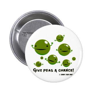Geben Sie Erbsen eine Möglichkeit Runder Button 5,1 Cm