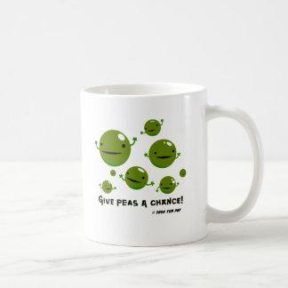 Geben Sie Erbsen eine Möglichkeit Tee Tassen