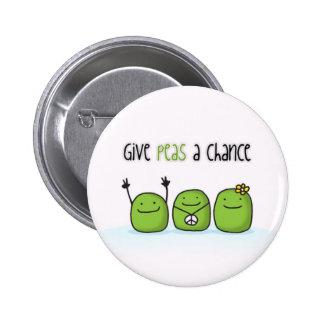 Geben Sie Erbsen einen Möglichkeits-Knopf Buttons
