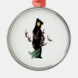 Geben Sie frei, um wild zu sein Silbernes Ornament