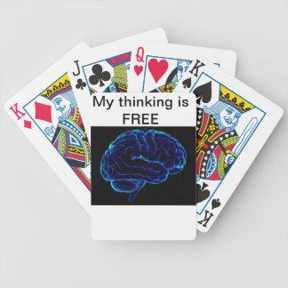 geben Sie frei und denken, lernen Bewegung, unterr Pokerkarten